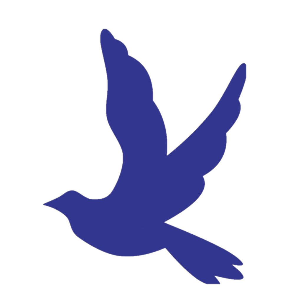 blue dove silhouette